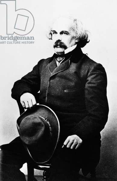 NATHANIEL HAWTHORNE (1804-1864). American writer. Photographed 1862.