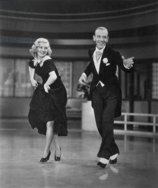 ROGERS AND ASTAIRE, 1936 Ginger Rogers (1911-1995) and Fred Astaire (1899-1987). American performers. Still from the motion picture 'Swing Time' (1936).