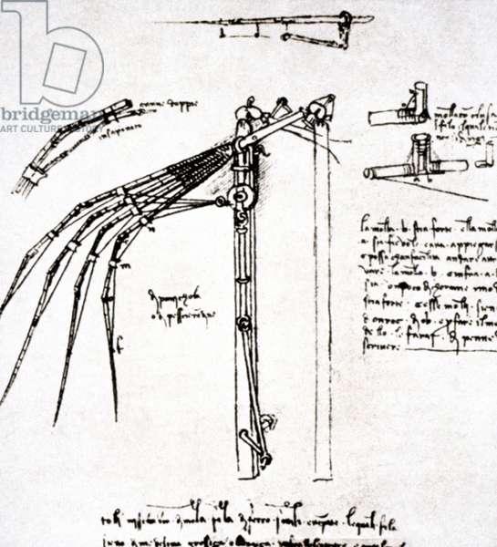 LEONARDO: FLYING MACHINE Leonardo da Vinci. Flying machine.