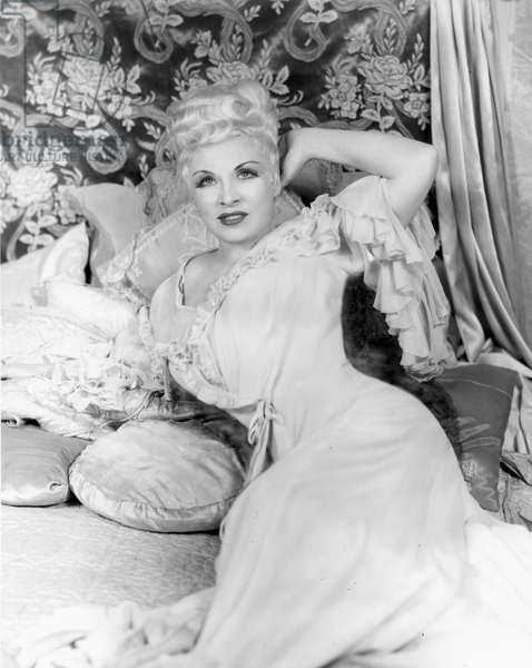 MAE WEST (1892-1980) American actress. In the role of Diamond Lil.
