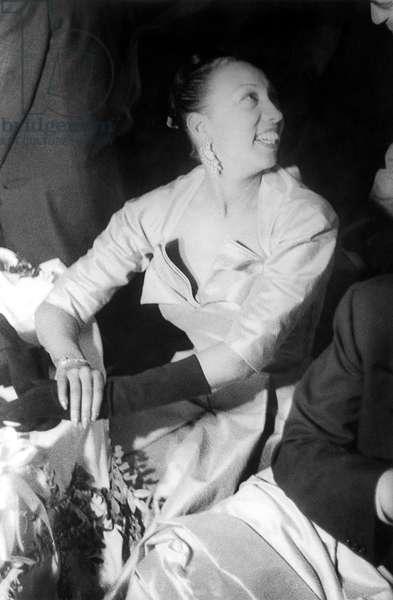 JOSEPHINE BAKER (1906-1975) American dancer. Photographed by Carl Van Vechten, 1951.