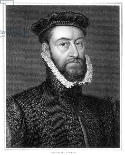JAMES STUART (1531?-1570) Earl of Murray. Half brother of Mary, Queen of Scots. Stipple engraving, English, 19th century.