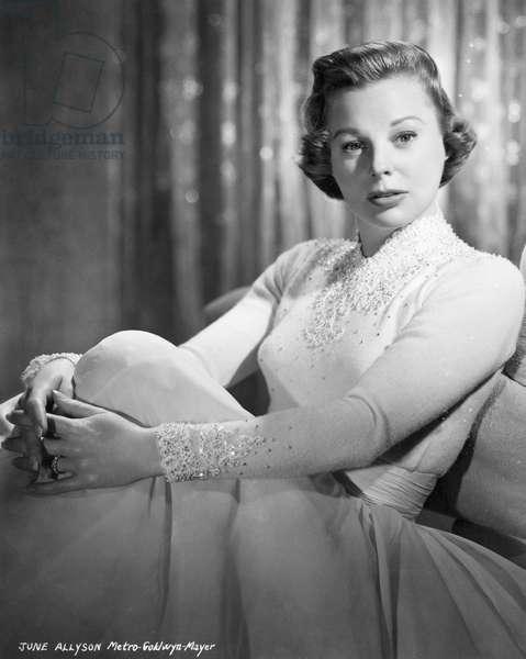 JUNE ALLYSON (1917-2006) American actress, dancer, and singer. Photograph, c.1950.
