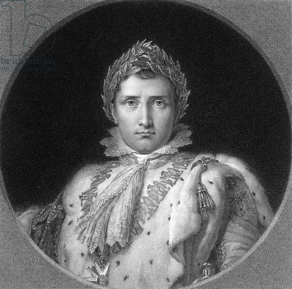 NAPOLEON I (1769-1821) Emperor of the French. Early 19th century line and stipple engraving after a painting by F. Gerard.