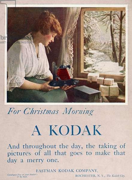 ADS: KODAK CAMERA, 1914 Advertisement for Kodak cameras. From 'Life' magazine, 3 December 1914.
