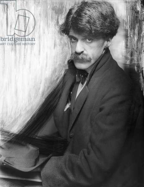ALFRED STIEGLITZ (1864-1946) American photographer, editor, and art exhibitor. Photographed by Gertrude Käsebier, 1902.