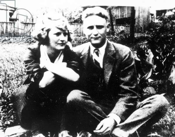 F. SCOTT FITZGERALD (1896-1940). Francis Scott Key Fitzgerald. American writer. Fitzgerald with his wife, Zelda.