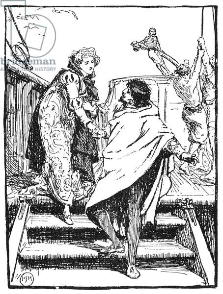 GRIMM: FAITHFUL JOHN Illustration, late 19th century, for the fairy tale by the Grimm Brothers.