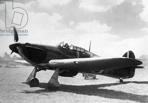 HAWKER HURRICANE A Hawker Hurricane fighter aircraft of the British Royal Air Force, 1941.