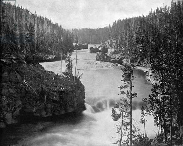 YELLOWSTONE RIVER, c.1890 Rapids on the Yellowstone River above the falls. Photograph, c.1890.
