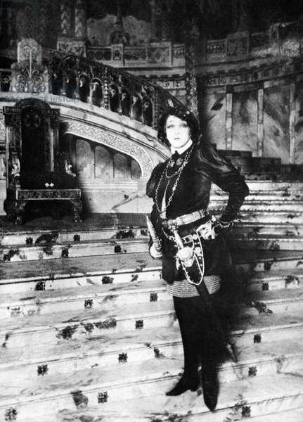 SARAH BERNHARDT (1844-1923). French actress. As Lorenzino de' Medici in 'Lorenzaccio' by Alfred de Musset, 1896.