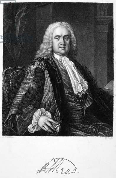 RICHARD MEAD (1673-1754) English physician. Steel engraving after a painting by Allan Ramsay.