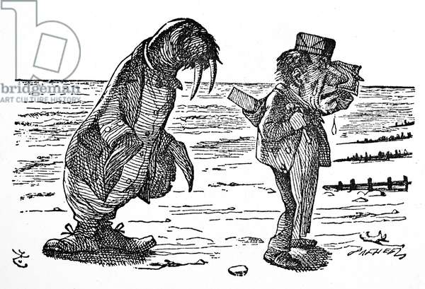 CARROLL: LOOKING GLASS The Walrus and the Carpenter. Illustration by Sir John Tenniel from the first edition of Lewis Carroll's 'Through the Looking Glass,' 1872.