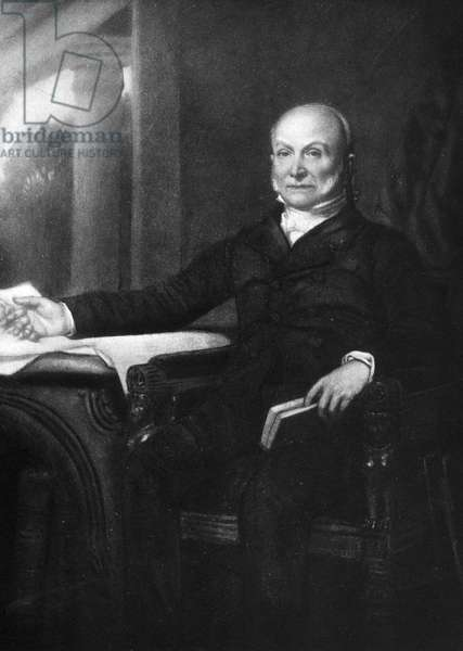 JOHN QUINCY ADAMS (1767-1848). Sixth President of the United States. Lithograph, 1899.
