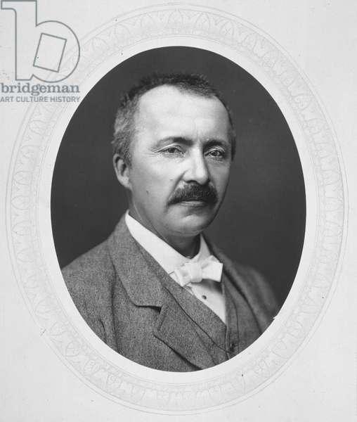 HEINRICH SCHLIEMANN (1822-1890). German archaeologist. Photograph, c.1877.