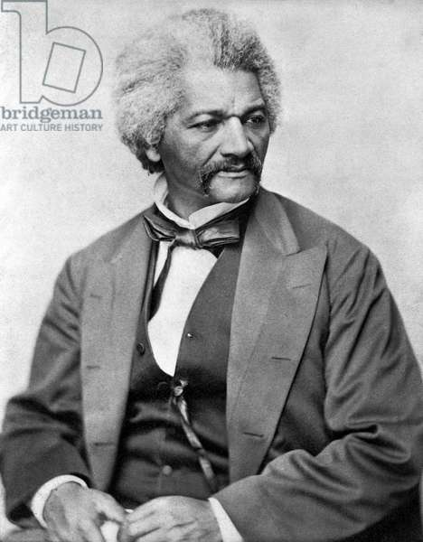 FREDERICK DOUGLASS ( c.1817-1895). American abolitionist and writer. Photograph, c.1855.