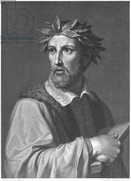 TORQUATO TASSO (1544-1595) Italian poet: copper engraving by Raffaello Morghen after Pietro Ermini.