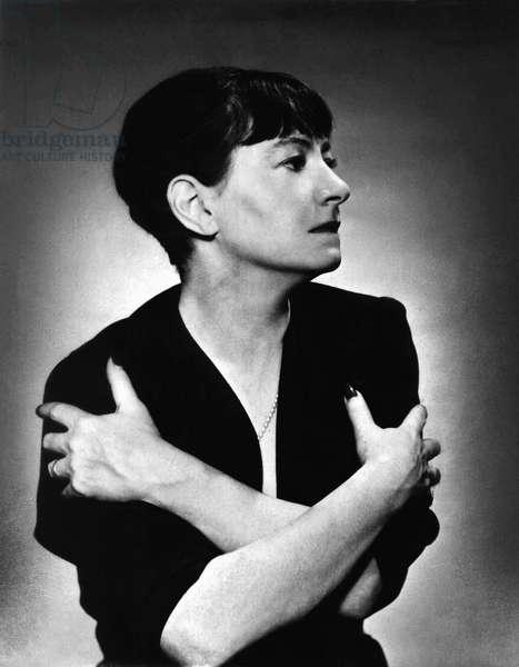 DOROTHY PARKER (1893-1967) American writer. Née Dorothy Rothschild. Photographed c.1936.