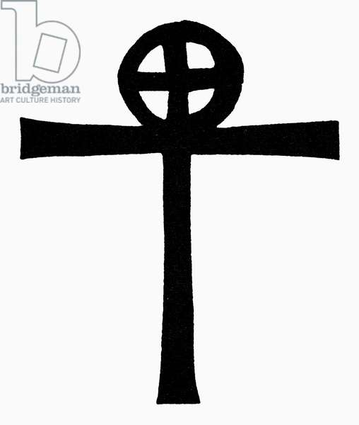 COPTIC CROSS A Coptic Christian cross used by Christian Gnostics in Egypt.