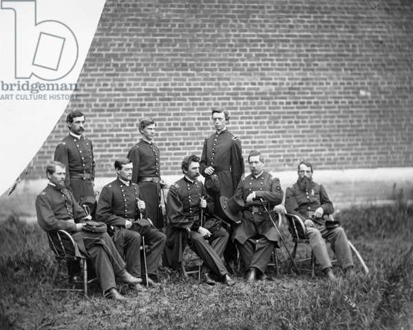 CIVIL WAR OFFICERS Group of Union Army officers during the Civil War, c.1863.