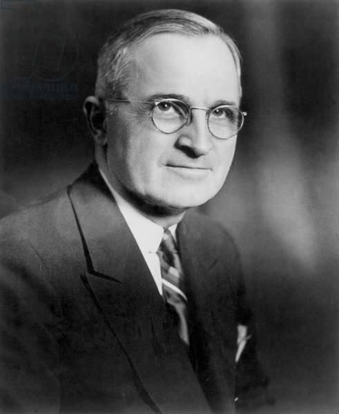 HARRY S. TRUMAN (1884-1972) 33rd President of the United States. Photograph, mid 20th century.