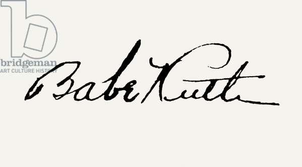GEORGE H. RUTH (1895-1948) Babe Ruth. American baseball player.