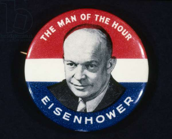 PRESIDENTIAL CAMPAIGN, 1952 Republican button from the 1952 presidential campaign, supporting the election of Dwight D. Eisenhower.
