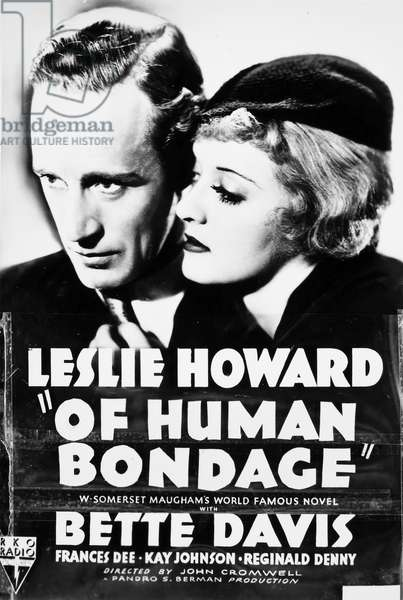 BETTE DAVIS (1908-1989) American actress. Bette Davis and Leslie Howard in the leading roles of the film, 'Of Human Bondage,' 1934.