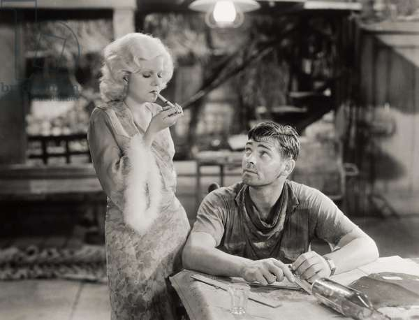 RED DUST, 1932 Clark Gable and Jean Harlow in a scene from the film.