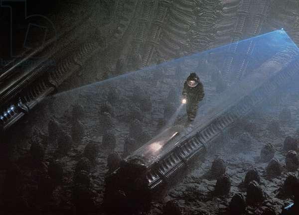 FILM: ALIEN, 1979 Scene from the science-fiction film, 'Alien,' directed by Ridley Scott, 1979.