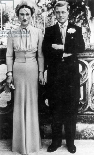 EDWARD VIII (1894-1972) King of Great Britain, 1936. The Duke and Duchess of Windsor, shortly after their marriage, photograph, 1937.