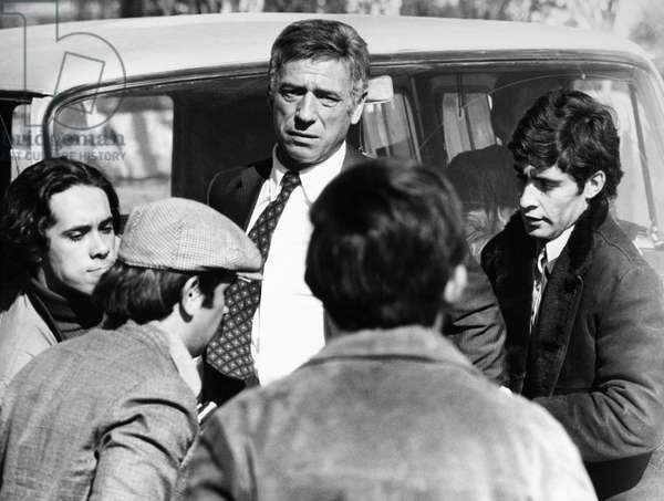 STATE OF SIEGE, 1972 Yves Montand as an American agent in South America in a scene from the French film 'State of Siege' directed by Costa Gavras, 1972.