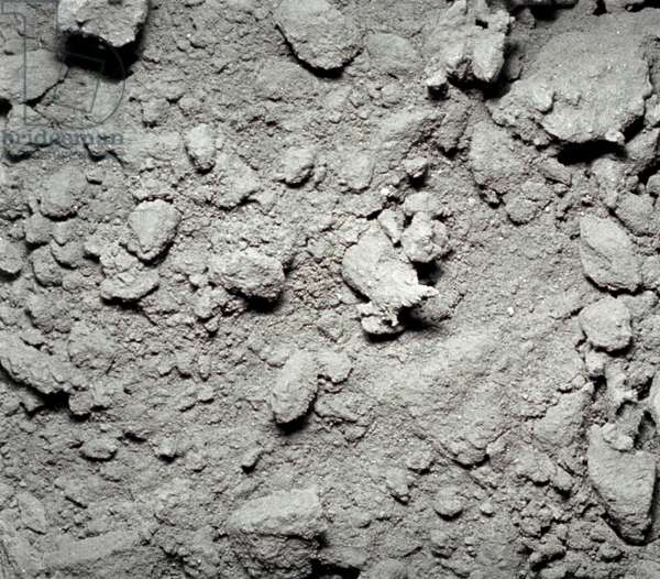 APOLLO 12: SOIL, 1969 Close up view of lunar soil. Photographed during the Apollo 12 mission, 1969.