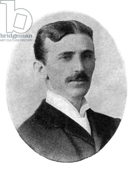 NIKOLA TESLA (1856-1943). Serbian-American electrician and inventor. Photograph, c.1900.