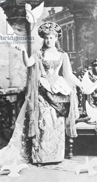 ALVA VANDERBILT (1853-1933) Mrs. William K. Vanderbilt, American society leader. Mrs. Vanderbilt costumed for a fancy-dress ball, c. 1880.