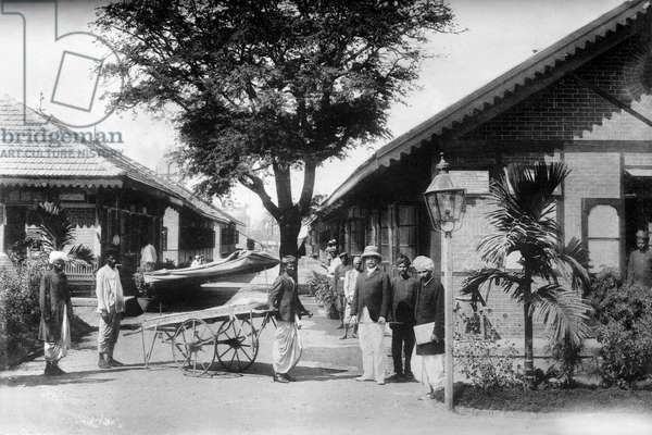 INDIA: BOMBAY, c.1922 Hospital for plague victims in Bombay (now Mumbai), India. Photograph, c.1922.