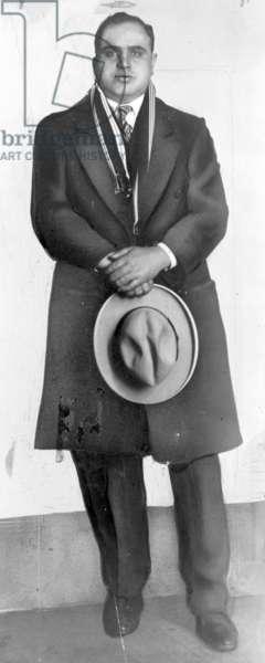 AL CAPONE (1899-1947) American gangster. Photograph, 1928.