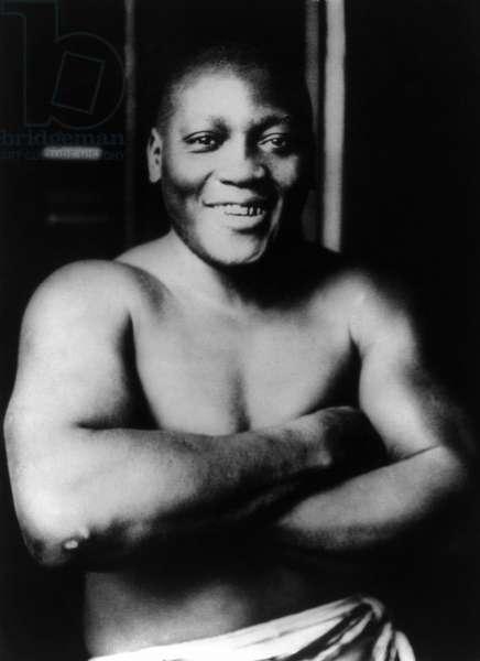 JACK JOHNSON (1878-1946) American heavyweight pugilist. Photographed on 31 March 1915.