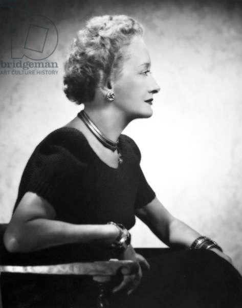 HATTIE CARNEGIE (1886-1956) American fashion designer. photographed in 1946.
