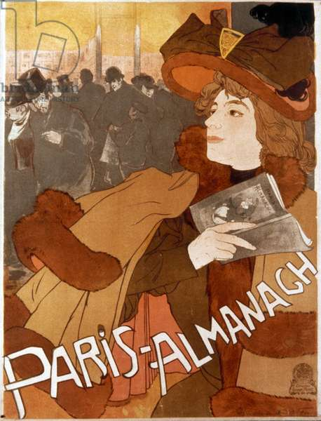 FRENCH ALMANAC AD, 1894 Lithograph advertising poster, 1894, by Georges de Feure for the Paris Almanac.