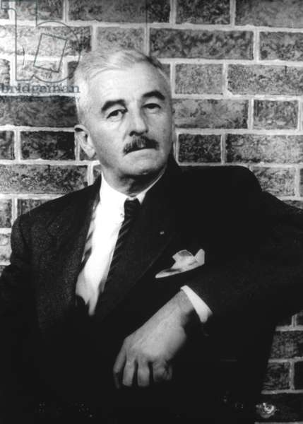 WILLIAM FAULKNER (1897-1962) American writer. Photograph, 1954.