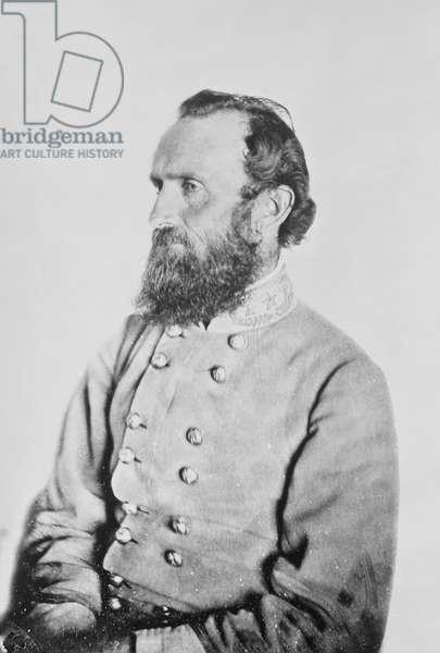 STONEWALL JACKSON (1824-1863). Thomas Jonathan 'Stonewall' Jackson. American Confederate general. Photograph, 26 April 1863.