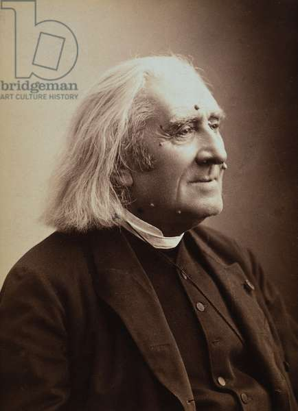 FRANZ LISZT (1811-1886) Hungarian pianist and composer. Photographed, c.1882, by Nadar.
