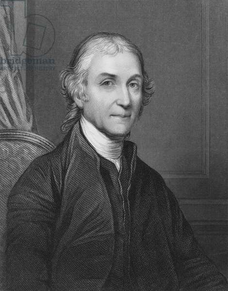 JOSEPH PRIESTLEY (1733-1804) English cleric and chemist. Steel engraving, English, 19th century.