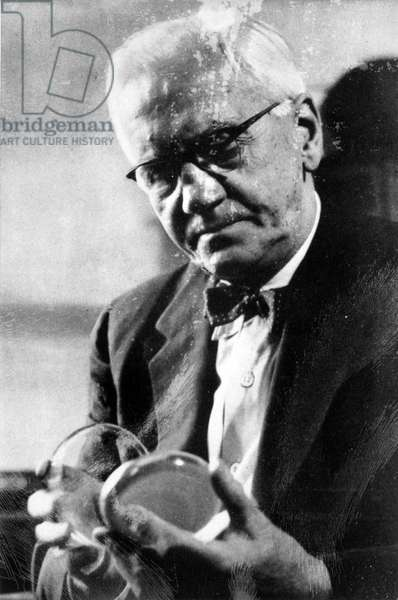 SIR ALEXANDER FLEMING (1881-1955) Scottish bacteriologist.