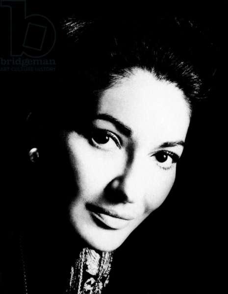 MARIA CALLAS (1923-1977) American operatic soprano.
