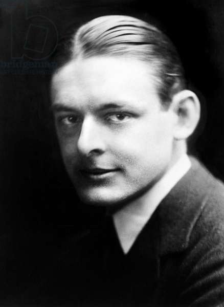 T.S. ELIOT (1888-1965) Thomas Stearns Eliot. American (naturalized British) poet and critic. Photograph, c.1920.