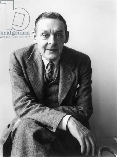 T.S. ELIOT (1888-1965) Thomas Stearns Eliot. American (naturalized British) poet and critic. Photographed in New York in 1955.