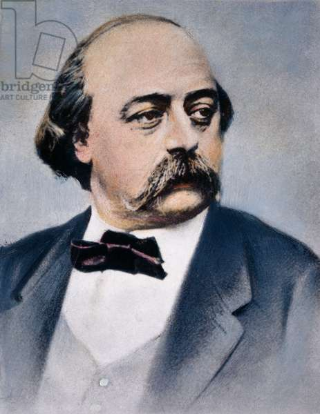 GUSTAVE FLAUBERT (1821-1880). French novelist. Oil over a photograph by Nadar.