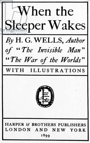 H.G. WELLS: TITLE PAGE, 1899 Title-page to the first edition of
